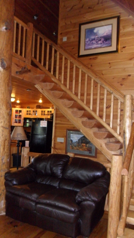 Staircase to Loft/Master bedroom